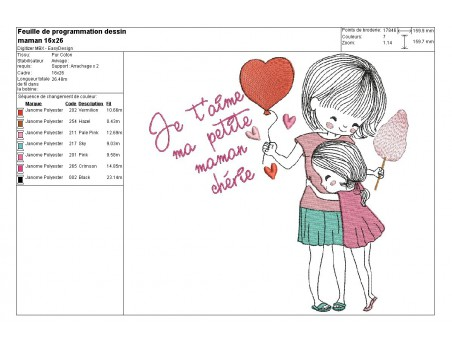 Instant download machine embroidery design mothers' Day