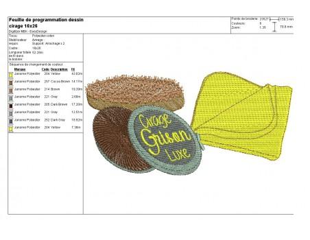 Instant download machine embroidery design vintage shoe polish