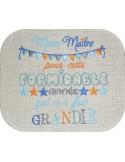 Embroidery design teacher