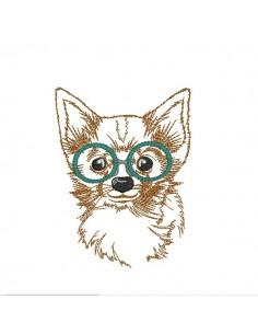 Motif de broderie machine spitz à lunettes