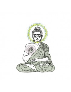 embroidery design oracle buddha