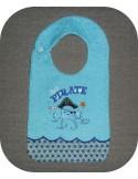 machine embroidery design  Bib ITH little pirate
