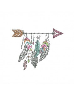 Embroidery design dream Catcher