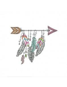 Embroidery design arrow dream catcher