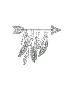 Embroidery design arrow dream catcher