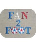 Motif de broderie machine fan de foot