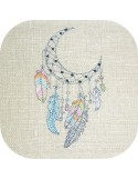 Embroidery design arrow dream catcher boho
