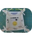 Instant download machine embroidery Breton hat