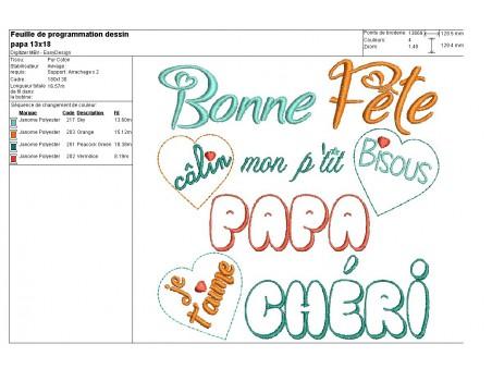Instant download machine embroidery design Dear Mum