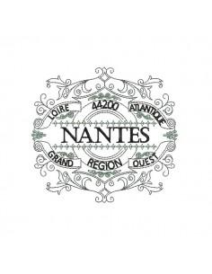 Motif de broderie machine cadre région grand ouest Nantes