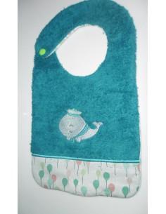 machine embroidery design  Bib ITH whale