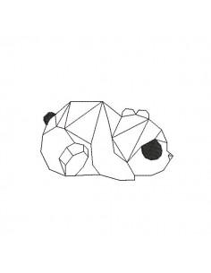 Instant download machine embroidery design panda