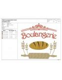 Motif de broderie machine boulangerie