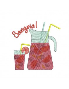Instant download machine embroidery  sangria