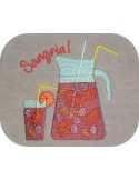 Instant download machine embroidery  sushi