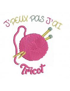 Motif de broderie machine tricot