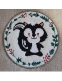 Instant download machine embroidery raccoon