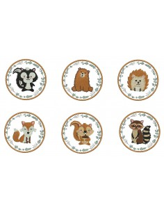 Instant download machine embroidery animals