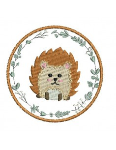 Instant download machine embroidery bear