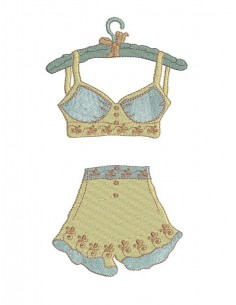 Instant download machine embroidery design  retro lingerie