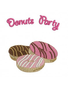 Motif de broderie machine donuts