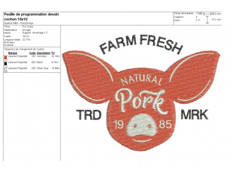 Instant download machine embroidery  beef