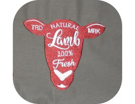 Motif de broderie machine agneau