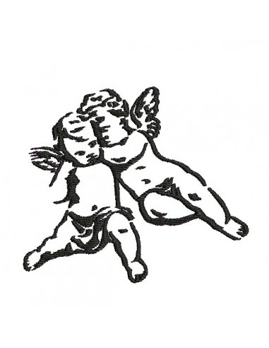 Instant download machine embroidery angel
