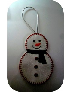 Instant download machine embroidery design snowman