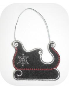 Instant download machine embroidery design Santa's sleigh
