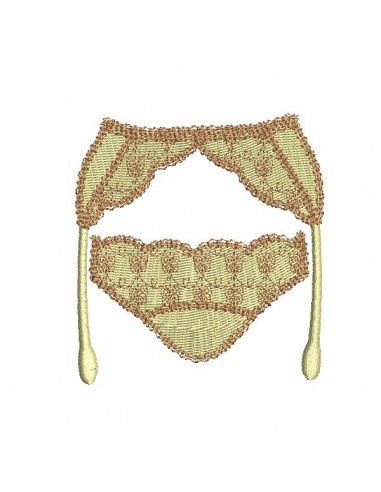 Instant download machine embroidery design panty and garter belt