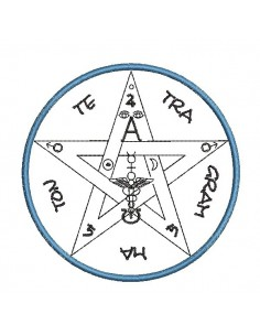 embroidery design esoteric pentagram
