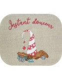 Instant download machine embroidery design christmas coffee maker and cookies