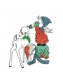 Motif de broderie machine enfants avec un faon