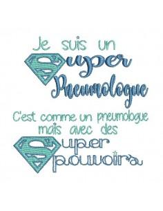 Embroidery design super pulmonologist