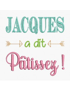 Embroidery design pastry