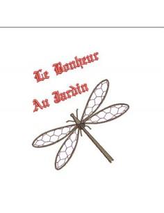 motif de broderie libellule