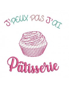 Instant download machine embroidery design pastry