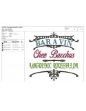 Instant download machine embroidery crate of wine