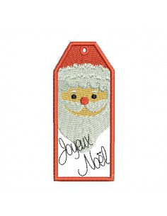 Instant download machine embroidery design Santa Claus label ith
