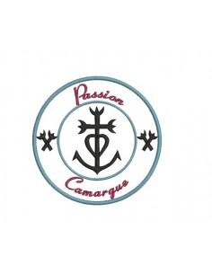 Motif de broderie machine  Croix de Camargue