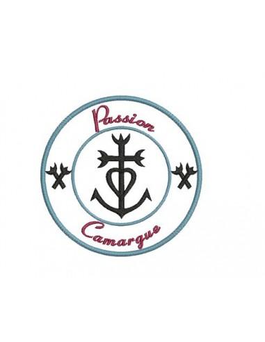 Motif de broderie Croix de Camargue