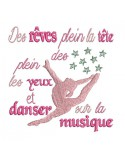 Instant download machine embroidery design dance