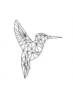 Instant download machine embroidery design humming-bird
