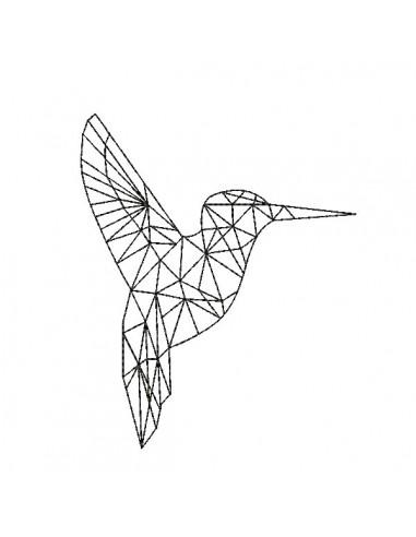 Motif de broderie machine colibri origami