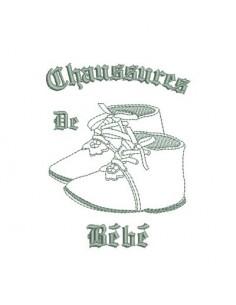 motif de broderie chaussures bébé