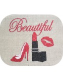 Motif de broderie machine beautiful