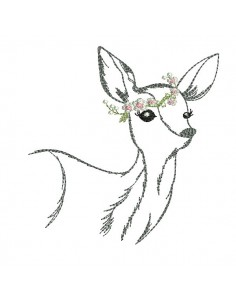 embroidery design applique deer