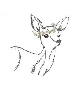 embroidery design doe