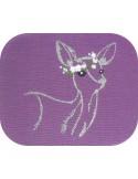embroidery design applique deer